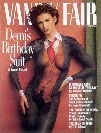 Demi Moore Vanity Fair Magazine August 1992 Cover Photo - United States